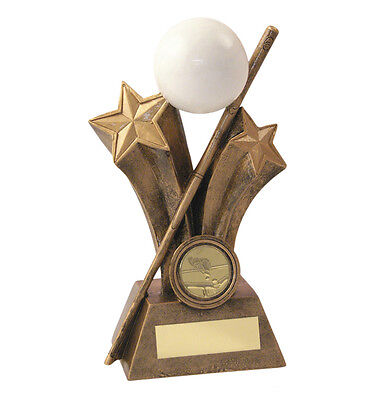 SNOOKER RED BALL GOLD CUP TROPHY METAL /& ACRYLIC FREE ENGRAVING 285mm 3 SIZES