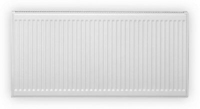 Pensotti 24 in. H x 16 in. L Hot Water Panel Radiator Package in White