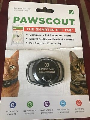 Pawscout Smart Tag for Dogs and Cats Black & Silver -  NEW!
