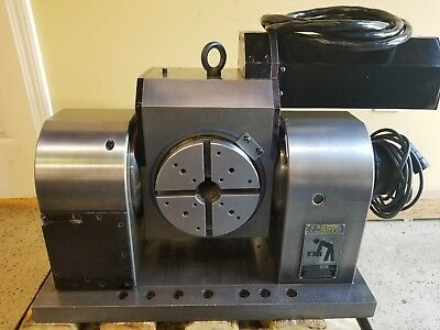 FADAL TR65 4th/5th Axis Rotary Trunnion removed from a Fadal CNC VMC - DC Motors