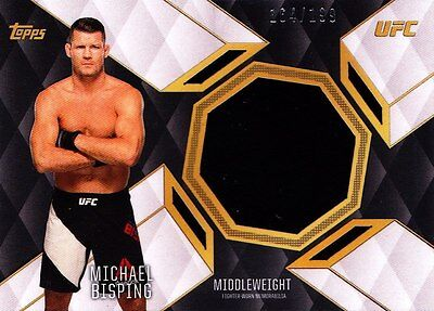 2016 Topps UFC Top Of The Class Relics Insert - Michael Bisping (TCR-MB) 164/199