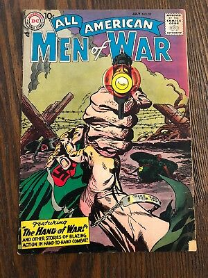 ALL AMERICAN MEN OF WAR #59-1958-WWII-DC-SILVER AGE Free Shipping