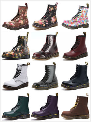 Dr Martens 8-Eye Classic Airwair 1460 Leather Canvas Ankle Boots Unisex