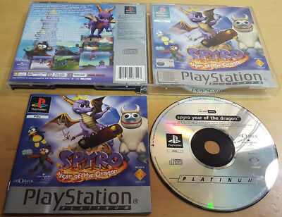 SPYRO YEAR OF THE DRAGON for SONY PLAYSTATION 1 PS1, PS2 & PS3 COMPLETE