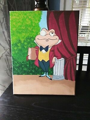 "Mr. Toad Fan Art Acrylic on Canvas Painting 11""×14"""