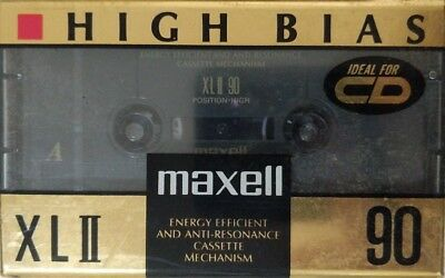 Maxell Xlii 90 High Bias Position Sealed Blank Xlii 90 Cassette Tape (1)