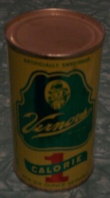 Rare Vintage Vernors 1 Calorie Soda Pop Steel Can - not bank - No Pull Tab
