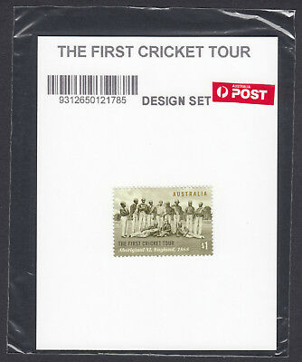2018 Australia First Cricket Tour 150 Years,$1.00 Stamp sealed in Po Plastic MNH