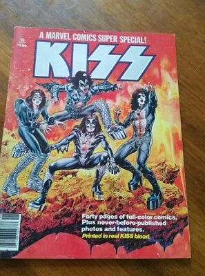 Marvel Comics Super Special #1 KISS Cover Magazine Blood Issue 1977