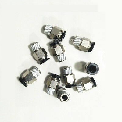 5pcs Male Straight Connector Tube to NPT Tapered Quick Release Push In Fittings