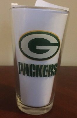 GREEN BAY PACKERS MILLER LITE BEER Glass Pint Vtg NFL Football Logo