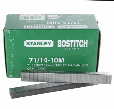 Stanley Bostitch 71 serie 14mm Galvanised Staples 10,000 14 - 10m fo rstaple gun