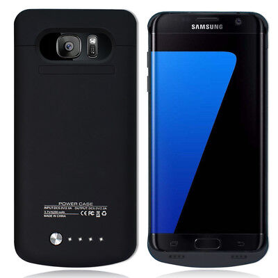 Power Bank Battery Backup Charging Case Cover F Samsung Galaxy S7 Edge SM-G935P