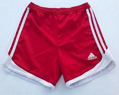 Adidas Climalite Red/White Youth Size Small Drawstring Outdoor Athletic Shorts