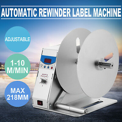 NEW Automatic Label Tags Rewinder Rewinding Machine Workroom Printing 0~50r/min