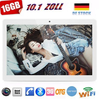 10.1 Zoll Tablet PC 16GB/2GB Android 7.0 Quad Core Dual-SIM GPS Wifi 3G Phablet