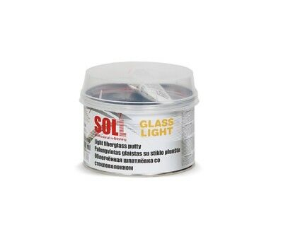 SOLL GLASS fast drying fibreglass putty for small & large are 0.5l/16.90oz