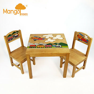 OSAKA Kids Table And Chairs Set Wood Timber Designer kids chairs and tables