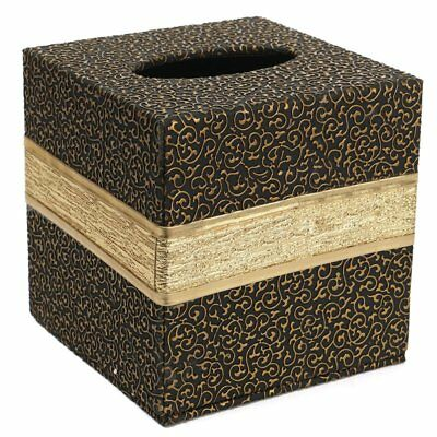 Durable Room Car PU Leather Square Tissue Box Paper Holder Case Cover Napki H6K3