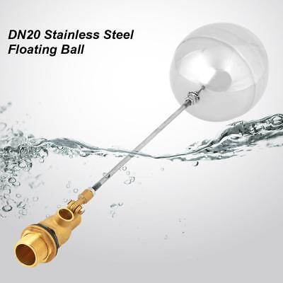 """G3/4"""" DN20 Adjustable Male Float Ball Valve Stainless Steel For Water Oil Gas SD"""