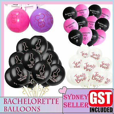 UP100pcs Caution Hens Party Night Balloons Willy Dicky Bachelorette Fancy Girls