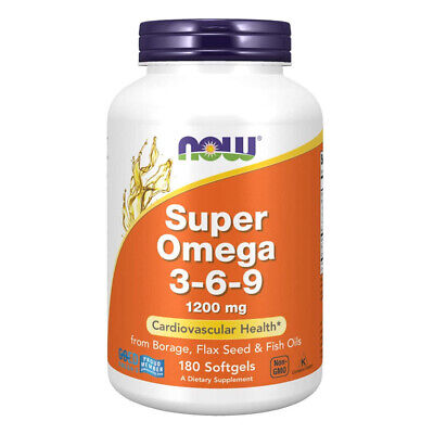 NOW FOODS Super Omega 3-6-9 1200mg 180 softgels  perle - VITAMINE
