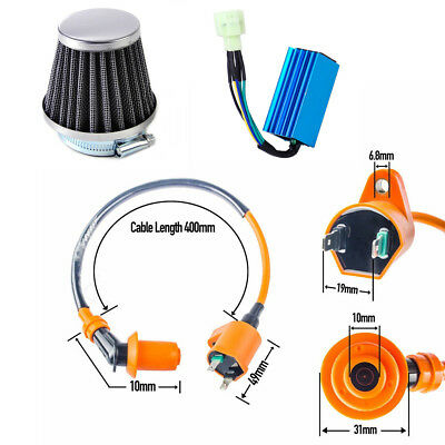 Ignition Coil+CDI+Air Filter Racing FOR GY6 50cc 70cc 90cc 125cc 150cc Scooter