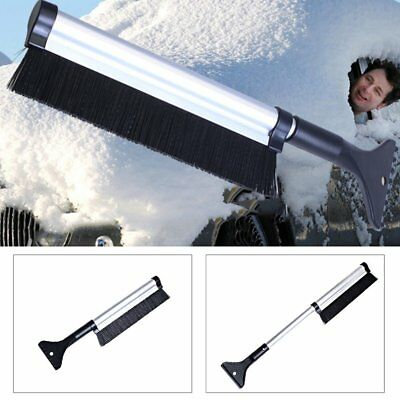 2in1 Ice Scraper with Brush fr Car Windshield Snow Remove Frost Broom Cleaner O6