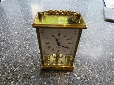 Schatz 8 day Skeleton Style Clock For Spares or Repair Excellent Case & Movement