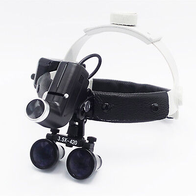 Dental 3.5x Magnification Professional Loupes with Adjustable Headband&5W Light
