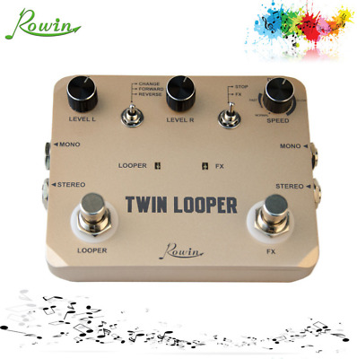 Rowin LTL-02 multi twin looper guitar effect pedals for musical instruments