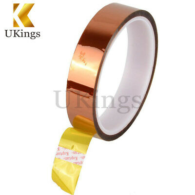 20mm 30M 100ft Kapton Tape Adhesive High Temperature Heat Resistant Polyimide K