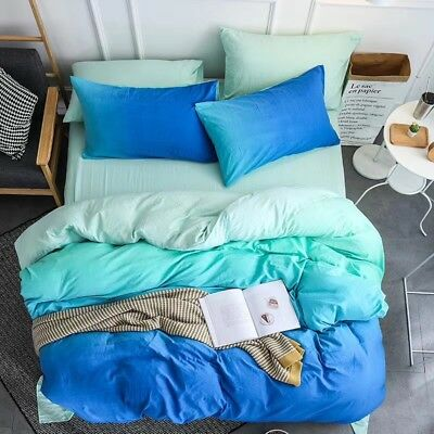 Blue Magic Cloud Duvet Quilt Doona Cover Set Double Queen King Size Bedding New