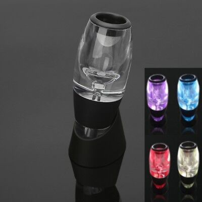 Led Light Red Wine Aerator Filter Magic Decanter Stand Essential Equipment Set
