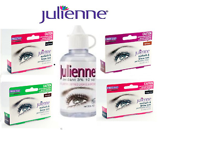 Julienne Professional Intensive Eyelash & Eyebrow Dye Tint + Activator Permanent