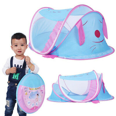 Foldable Infant Baby Mosquito Net Travel Tent Mattress Cradle Bed Cartoon cover