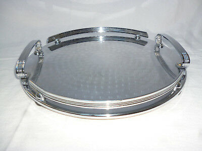 POLISHED ART DECO SERVING TRAY by Ranleigh Australia - 29.5cm diameter
