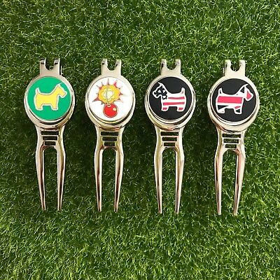 SCOTTY DOG GOLF DIVOT REPAIR TOOLS + MAGNETIC BALL MARKER  Scotty Golf Pitchfork