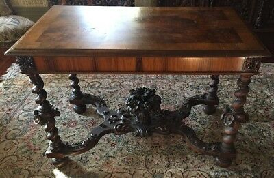 Johnson Handley Johnson Heavily Carved Center-table Grand Rapids