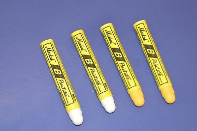 2 Yellow  2 White Markal B Solid Paint Ambient Surface Marker 80220B 80221B