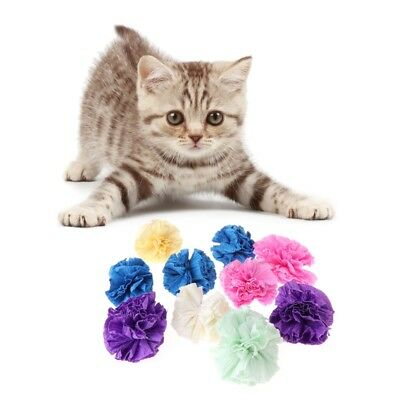 5pcs Cat Toys Colorful Paper Ball Dogs Puppy Kitten Chew Bite Interactive Funny