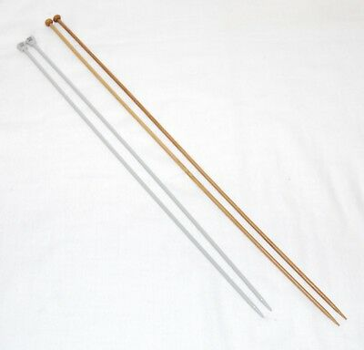 Single Pointed Knitting Needle Pins Various Sizes Aluminium Bamboo Sizes 2-7mm