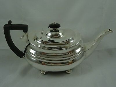 VICTORIAN  SOLID silver TEA POT, 1895, 612gm