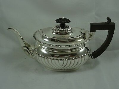 SOLID silver BACHELORS TEA POT, 1901, 319gm