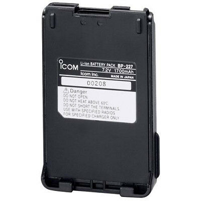 ICOM BP227 1700MAH LI-ION BATTERY PACK FOR IC-F51V IC-F61V M87 x 1