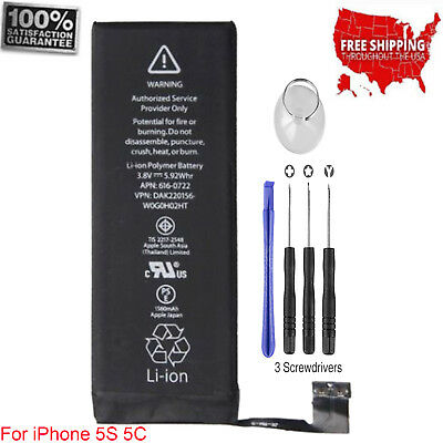 OEM 1560mAh Li-ion Internal Battery Replacement+Flex Cable+Tools For Phone 5S 5C
