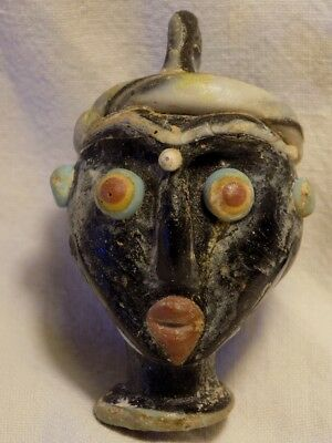 Ancient Mosaic Head Pendant
