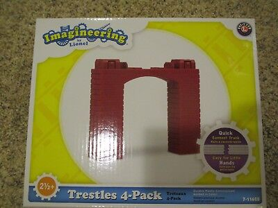 LIONEL TRESTLE SET IMAGINEERING PLAYSETS  7-11628  4 Pack Trestles Free Shipping