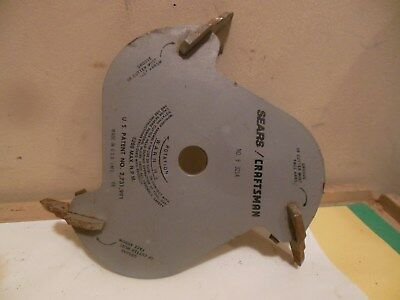 Sears Craftsman No 9-3214 Molding Head Cutter Cove Blade &9-3212 Bades