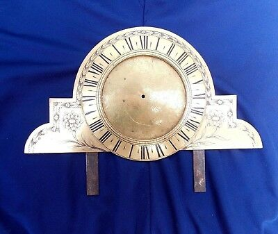 Antique c18th Brass 24 Hour Clock Face/Dial - NO RESERVE